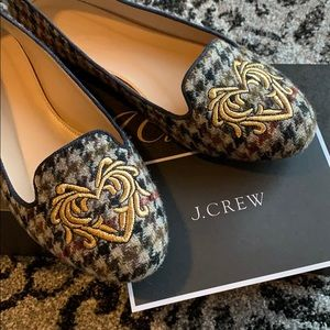 Jcrew Sophie Embroidered Loafers